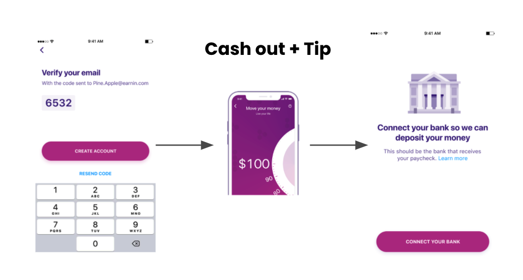 Allow users to cash out before bank connection